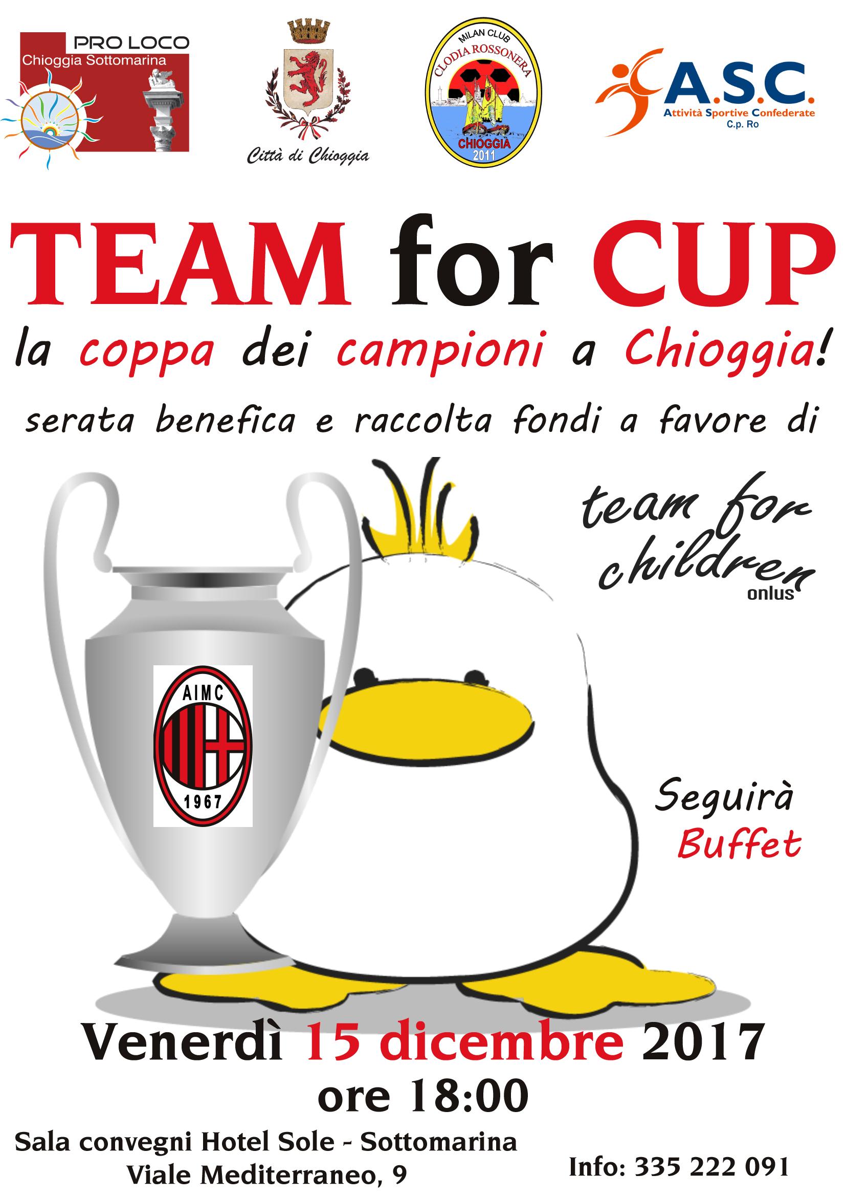 TEAM FOR CUP, LA COPPA DEI CAMPIONI A CHIOGGIA